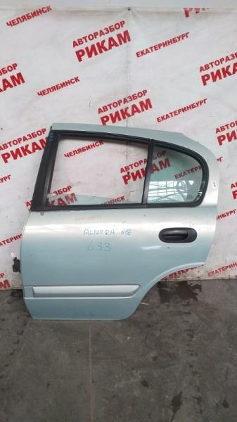 Дверь Nissan Almera N16 QG18DE 2001 задняя левая