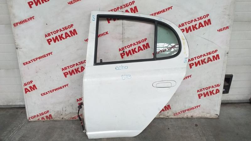 Дверь Toyota Echo NCP12R 1NZ-FE 2003 задняя левая