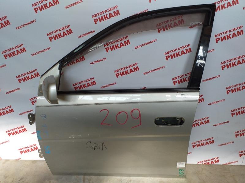Дверь Toyota Gaia SXM10 передняя левая