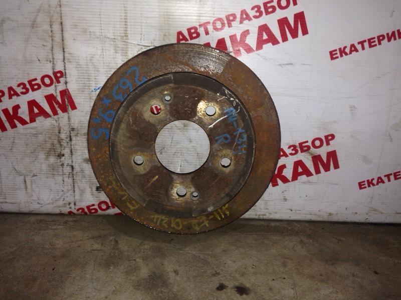 Диск тормозной Ssangyong Korando CK D20DTF 2011 задний