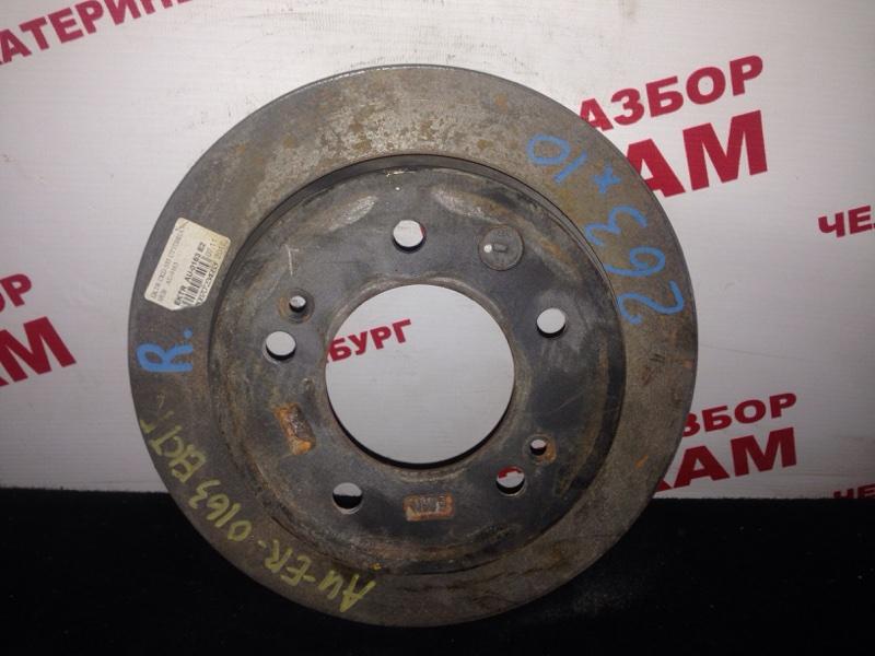 Диск тормозной Hyundai I30 FD G4GC 2009 задний