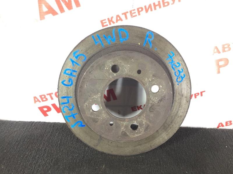 Диск тормозной Nissan Pulsar GA15 задний