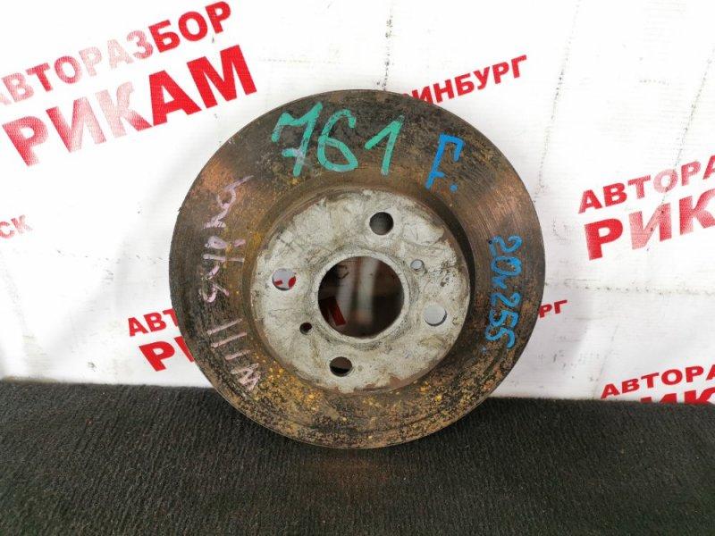Диск тормозной Toyota Will Cypha NCP70 передний