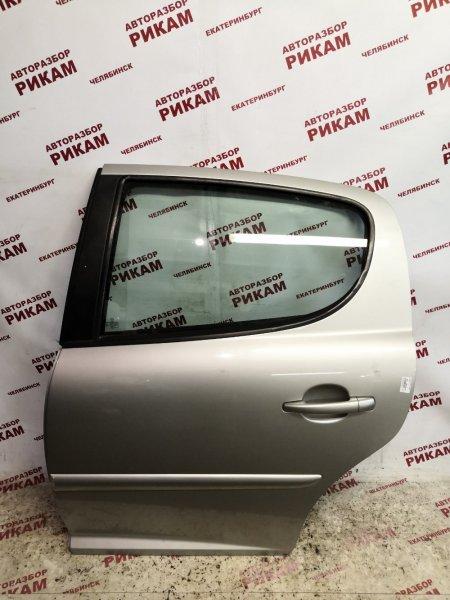 Дверь Peugeot 207 WC 5FW 2007 задняя левая