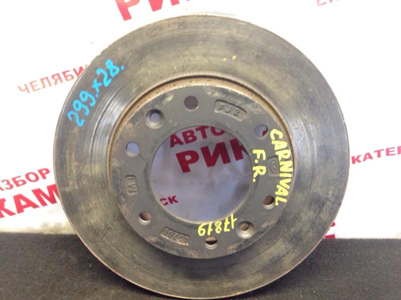 Диск тормозной Kia Carnival VQ J3 2006 передний