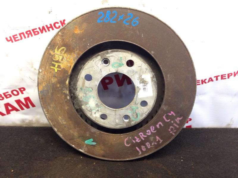 Диск тормозной Citroen C4 передний