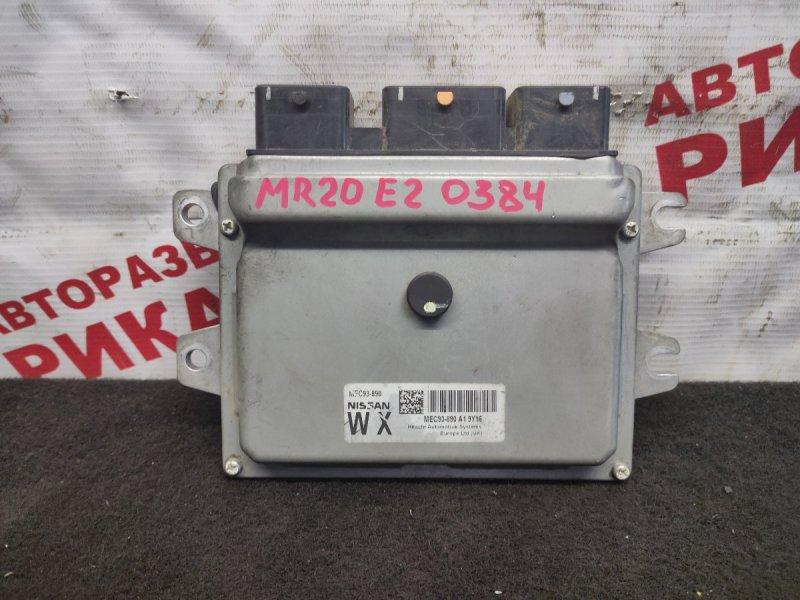 Блок управления Nissan Qashqai J10 MR20DE 2009