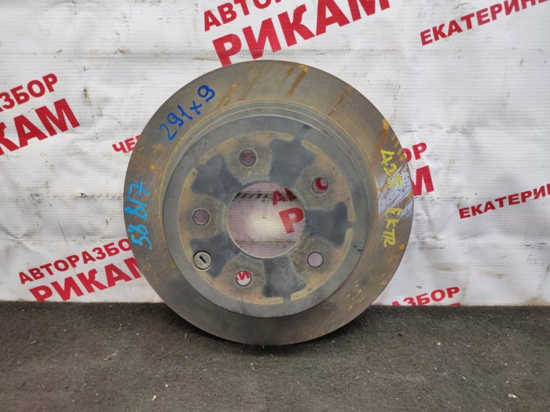 Диск тормозной Nissan Qashqai J10 MR20DE 2013 задний