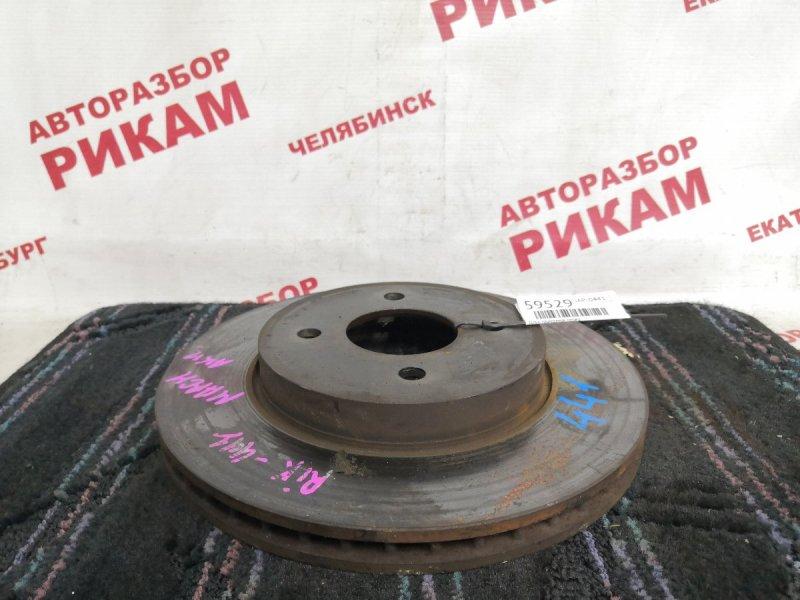 Диск тормозной Nissan March AK12 CR12DE 2006 передний