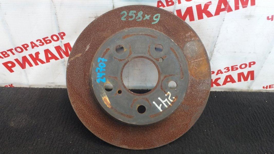 Диск тормозной Toyota Auris ZRE152 2ZR-FE 2008 задний