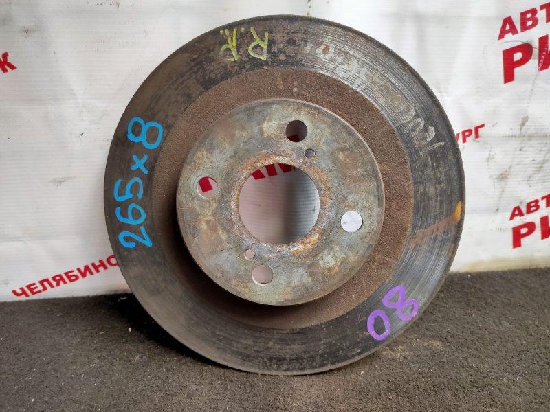 Диск тормозной Toyota Sprinter Trueno AE111 задний
