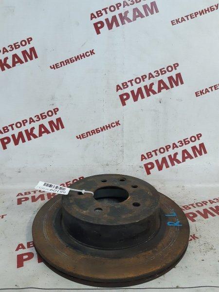 Диск тормозной Nissan Qashqai +2 J10 MR20DE 2010 задний