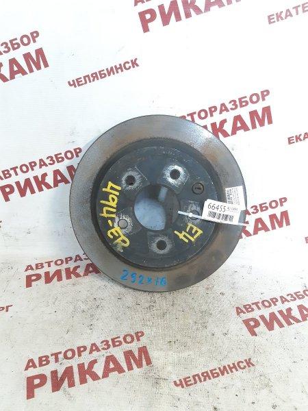 Диск тормозной Nissan X-Trail NT31 QR25DE 2008 задний
