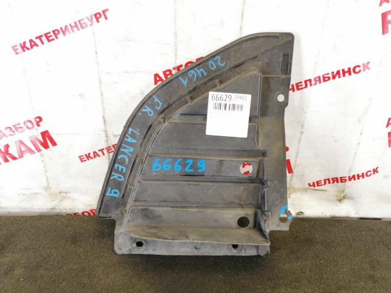 Защита двигателя Mitsubishi Lancer CS7A 4G69 2007 правая