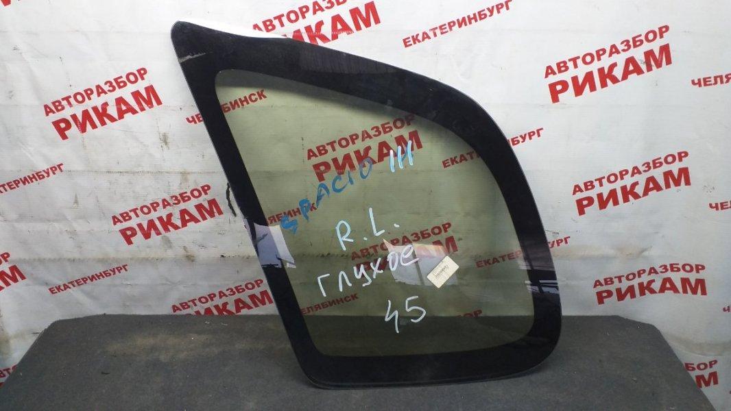 Стекло кузова боковое Toyota Corolla Spacio AE111 заднее левое