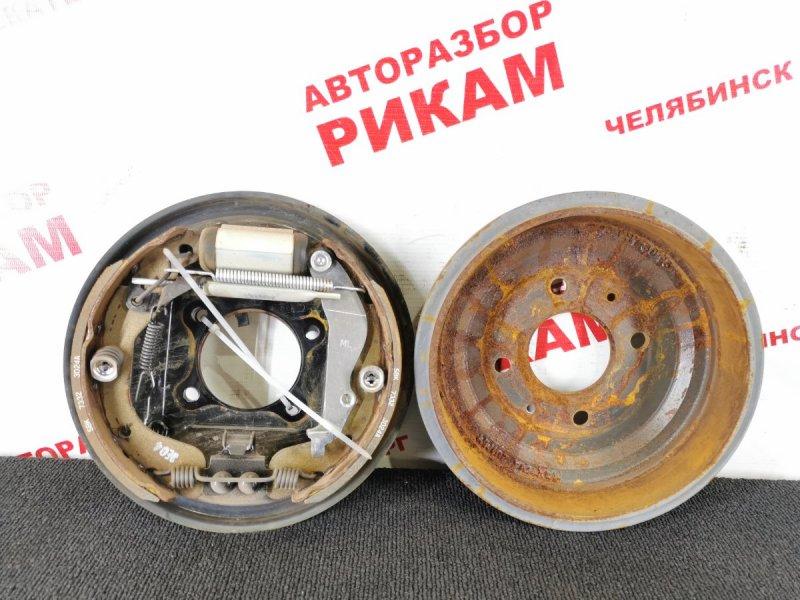 Щит тормозной Chevrolet Spark M300 задний левый