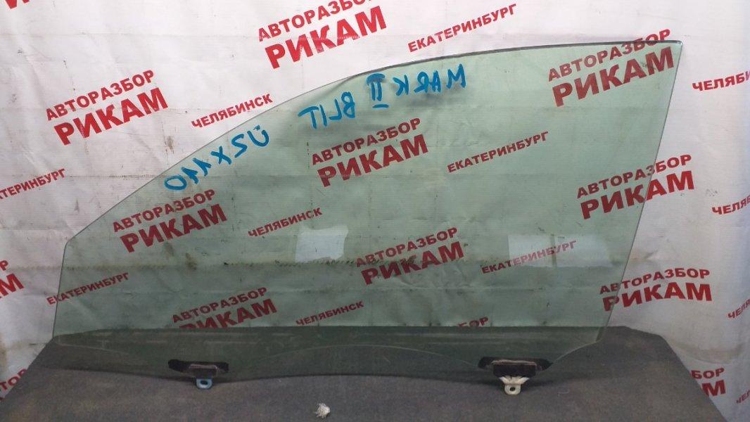 Стекло двери Toyota Mark Ii Wagon Blit JZX110 переднее левое