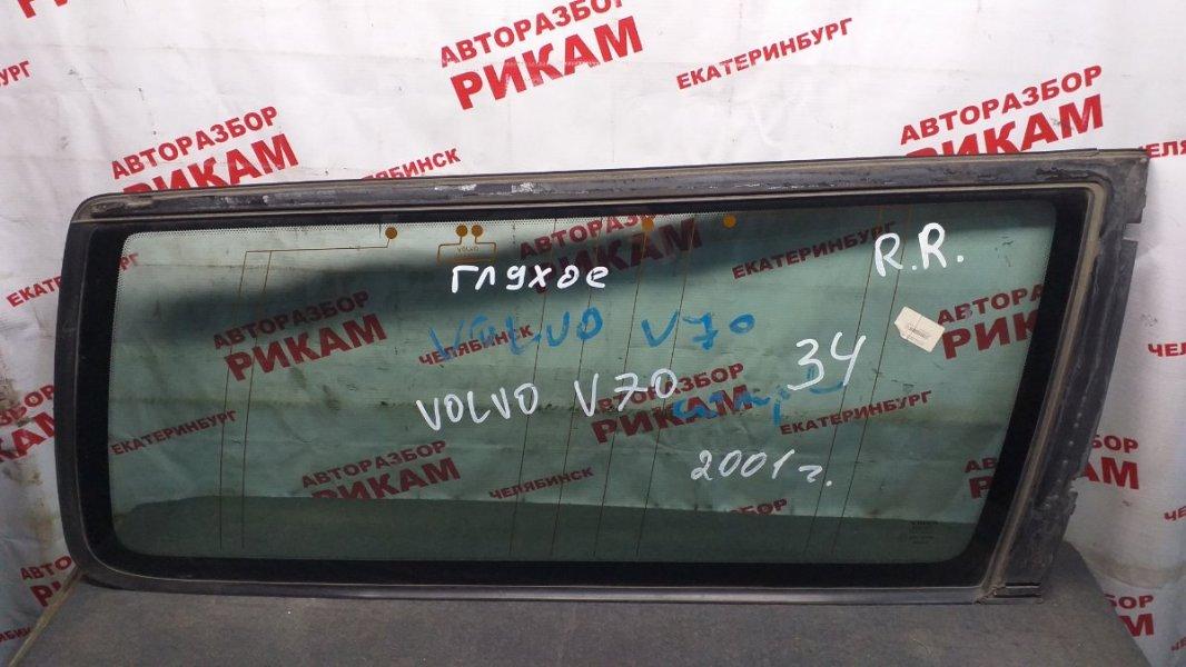 Стекло боковое Volvo V70 II заднее правое