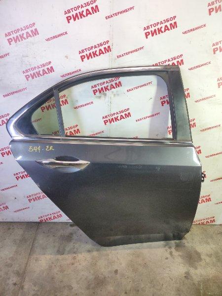 Дверь Honda Accord CU2 K24Z3 2012 задняя правая