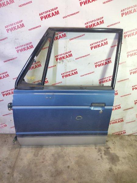 Дверь Mitsubishi Pajero L146GW 6G72 1990 передняя левая