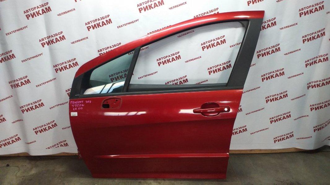 Дверь Peugeot 308 4A 10FHBV 2010 передняя левая