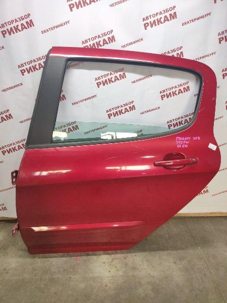 Дверь Peugeot 308 4A 10FHBV 2010 задняя левая