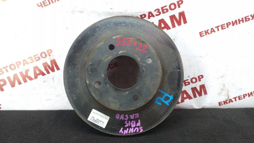 Диск тормозной Nissan Sunny FB15 QG15DE 2002 передний