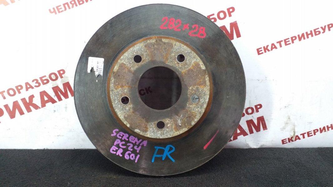 Диск тормозной Nissan Serena PC24 SR20DE 2000 передний