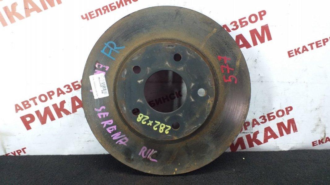 Диск тормозной Nissan Serena TC24 QR20DE 2002 передний