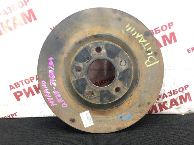 Диск тормозной Nissan Murano TZ50 QR25DE 2004 передний