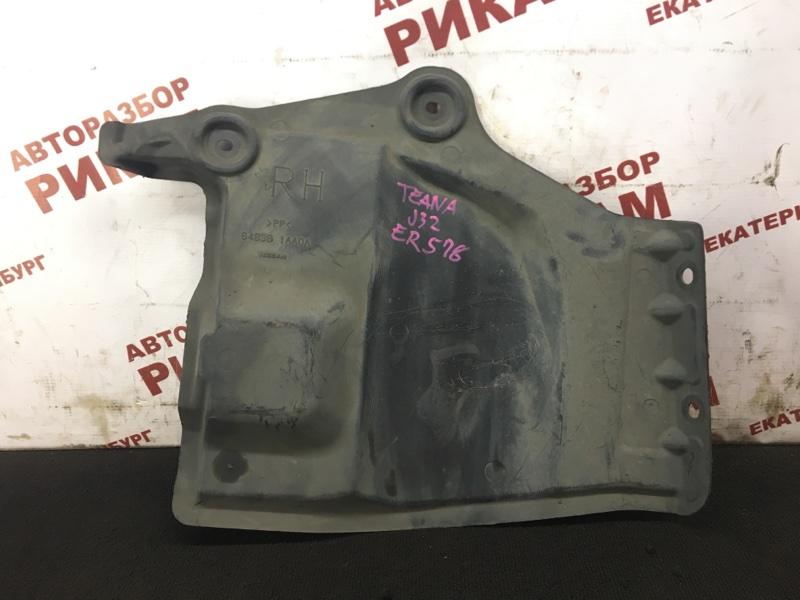 Защита двигателя Nissan Teana J32 VQ25DE 2008 правая