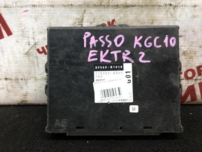 Блок управления Toyota Passo KGC10 1KR-FE