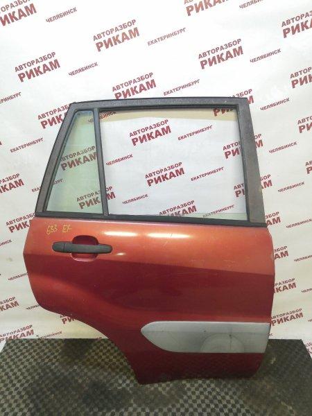 Дверь Toyota Rav4 ACA21 1AZ-FE 2002 задняя правая