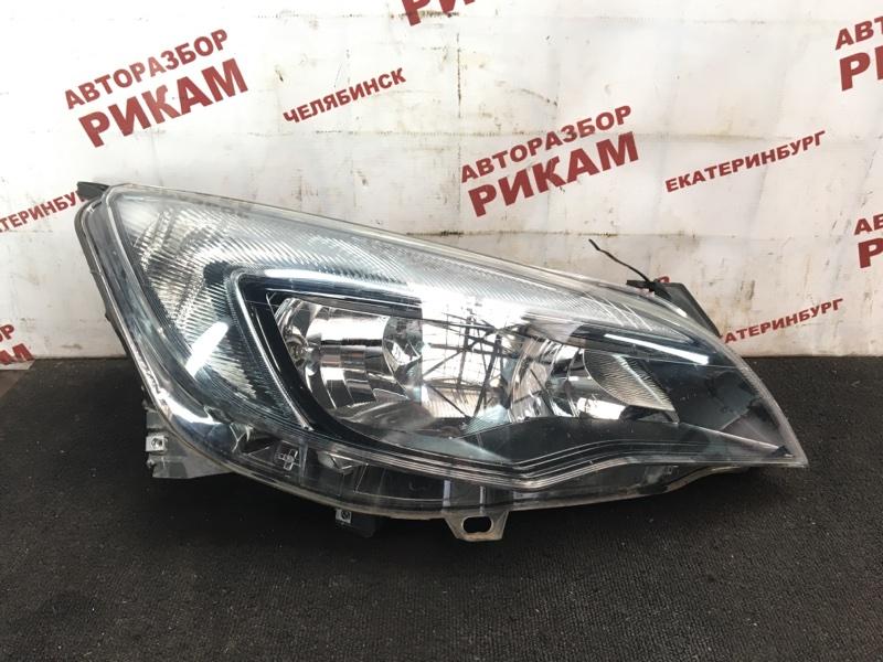 Фара Opel Astra J 68 A14NET 2012 правая