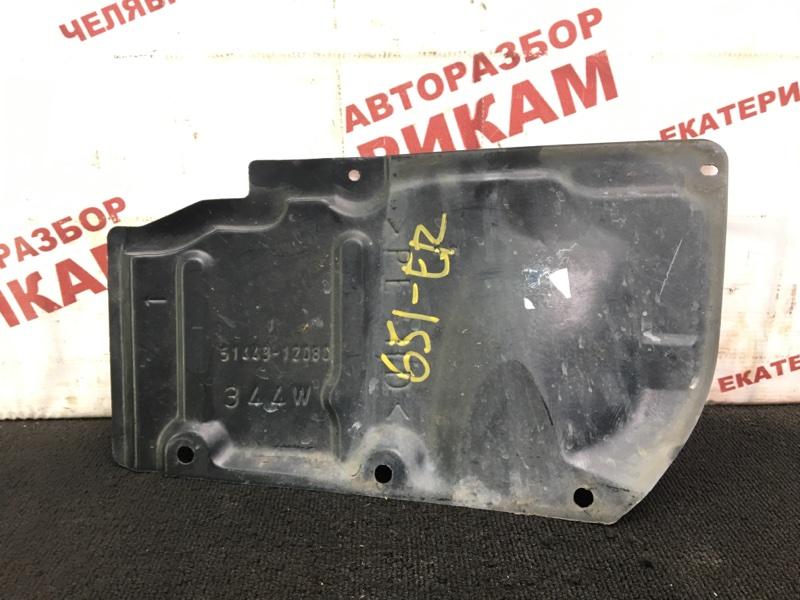 Защита двигателя Toyota Corolla ZRE152 2ZR-FE 2007 правая