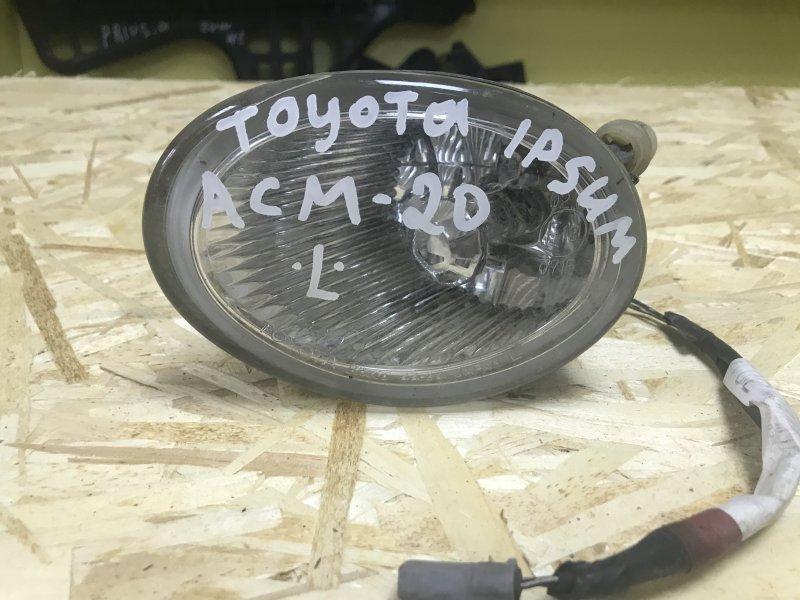 Туманка Toyota Ipsum ACM-21 левая (б/у)