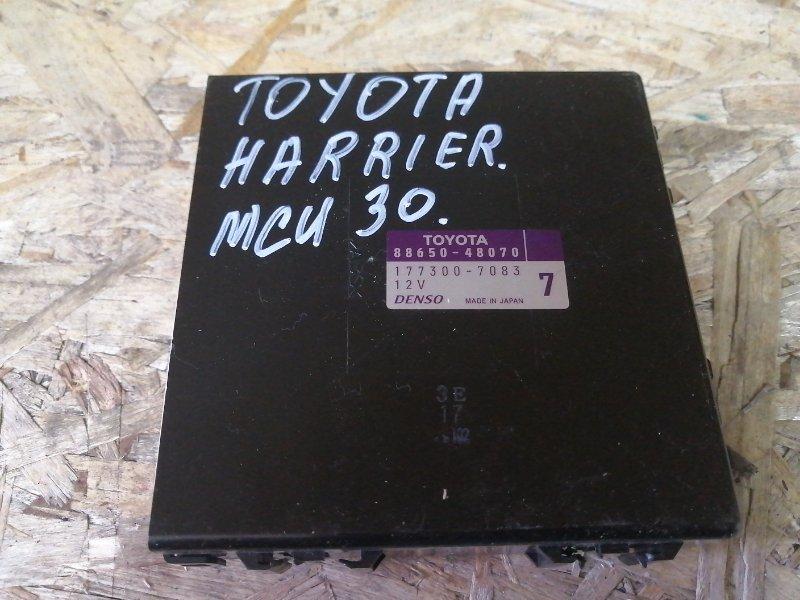 Блок управления климат-контролем Toyota Harrier MCU30 1MZ 2005 (б/у)