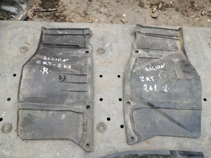 Защита двс Toyota Allion ZRT265 2ZR 2008 передняя правая (б/у)