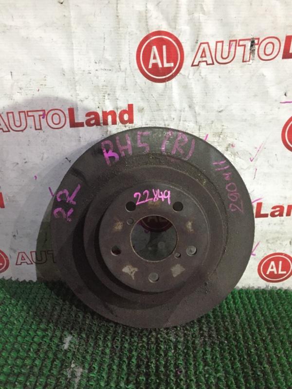 Тормозной диск Subaru Legacy BH5 задний