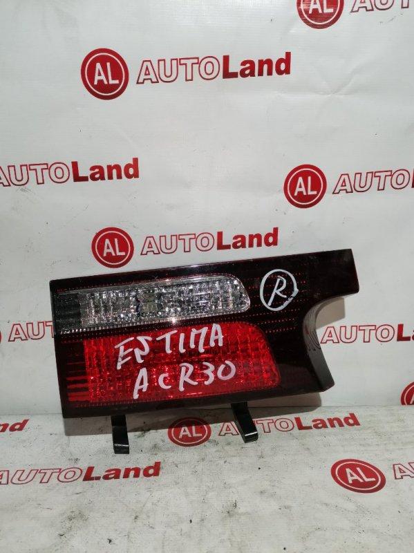 Вставка в крышку багажника Toyota Estima ACR30 задняя левая