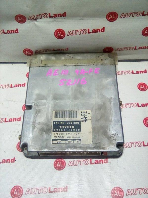 Блок управления двс Toyota Corolla Spacio AE111 4A-FE