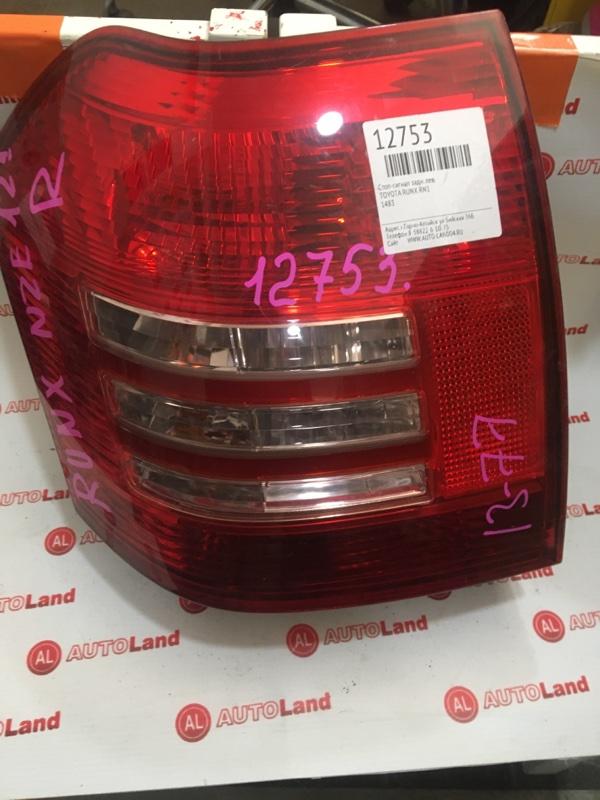 Стоп-сигнал Toyota Corolla Runx NZE121 задний левый