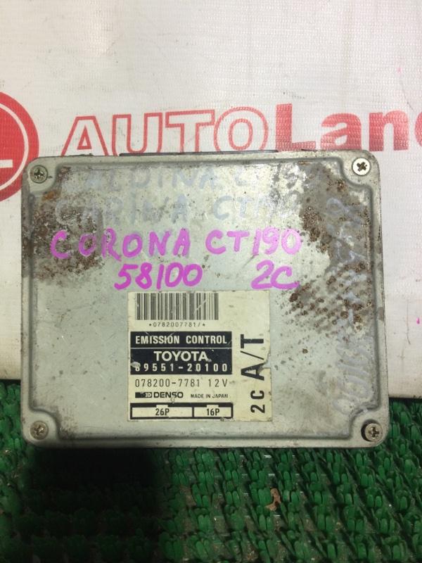 Блок управления двс Toyota Corona CT190 2C