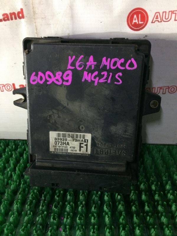 Блок управления двс Nissan Moco MG21S K6A