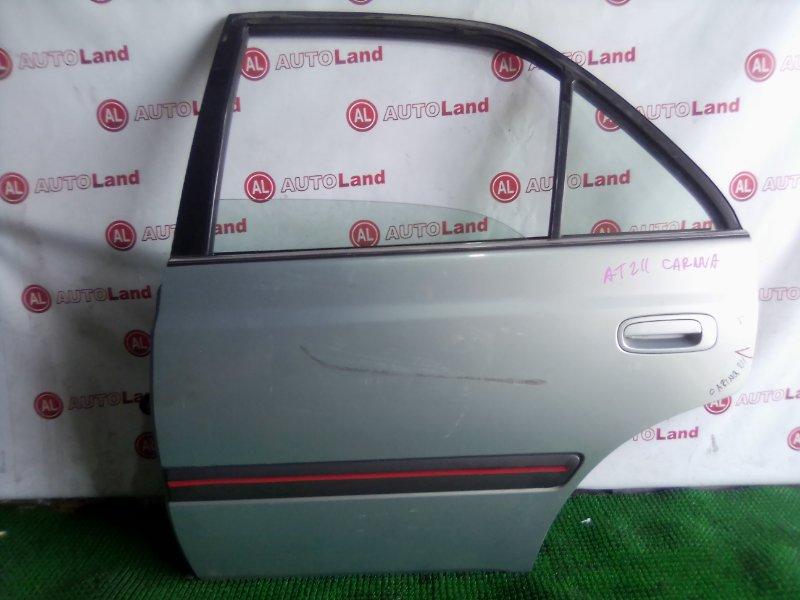Дверь боковая Toyota Carina AT211 задняя левая