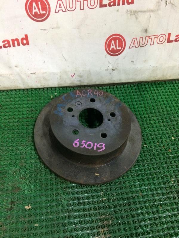 Диск тормозной Toyota Estima ACR40 задний