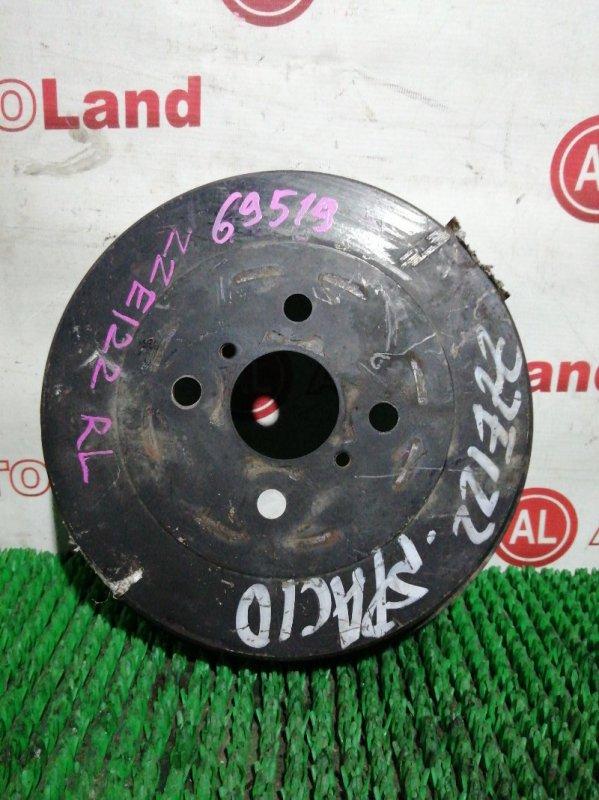 Тормозной барабан Toyota Corolla Spacio ZZE122 1ZZ-FE задний правый