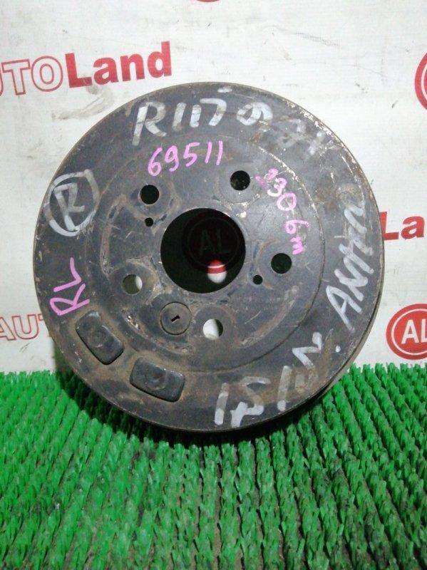 Тормозной барабан Toyota Isis ANM10 1AZ-FE задний левый