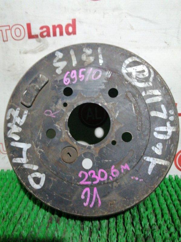 Тормозной барабан Toyota Isis ZNM10 1ZZ-FE задний правый