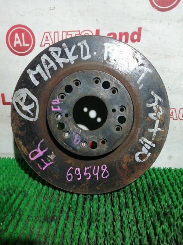 Диск тормозной Toyota Mark Ii JZX110 1JZ-FSE передний